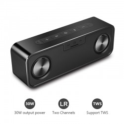 30W Bluetooth metal speaker with super bass - wireless 3D digital column