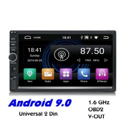 2 Din Bluetooth Android 9 car radio - WiFi - USB - GPS navigation - Mirrorlink - MP3 MP5