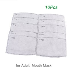 PM25 - activated carbon mouth mask filter - anti dust - 10 pieces