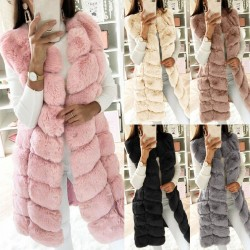 womens faux fur coat - women waist coat - fur gilet women's fur jacket - warmer vest ladies outwear