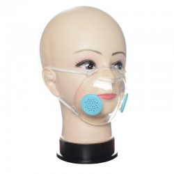 Transparent face / mouth mask with PM2.5 filters - anti-dust & - bacterial - lip reading