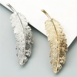 Vintage leaf - gold & silver hairpin - hair clip