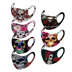 Protective face / mouth mask - reusable - cotton - skull motif