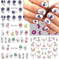 Nail Art Sticker - Flower - Cartoon