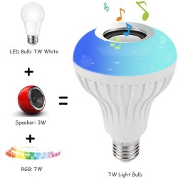 E27 - LED - RGB - Bluetooth speaker - music bulb with remote controller