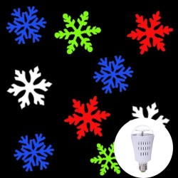 AC110-240V E27 4W - LED - snowflakes pattern - rotatable bulb - projector - lamp - RGB