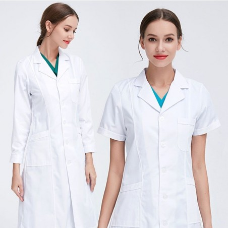 White lab coat - short / long sleeve