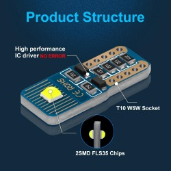 T10 W5W - LED bulbs - car light - 12V - 10 pieces