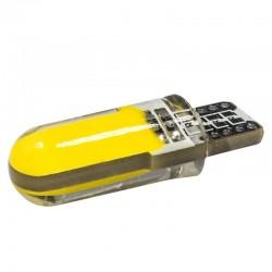 T10 - W5W - silicone case - COB LED bulbs - 10 pieces