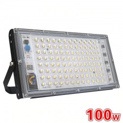 100W - AC 220V 230V 240V - LED floodlight - IP65 waterproof - outdoor reflector
