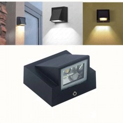5W - indoor / outdoor LED wall light - aluminum lamp - IP65 waterproof