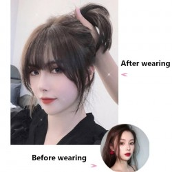 Synthetic hair bangs for women - with hairpiece clip