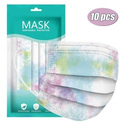 Mouth / face masks - 3-layer - disposable - tie-dye pattern - 10 - 20 - 30 - 50 - 60 - 70 pieces