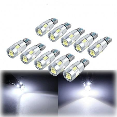 T10 - W5W - SMD - LED car bulbs - 10 pieces