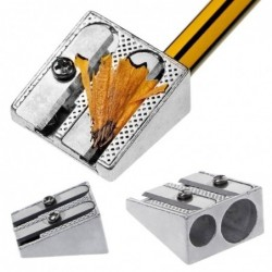 Double hole pencil sharpener school - office stationery