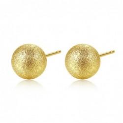 Gold metal ball - stud earrings