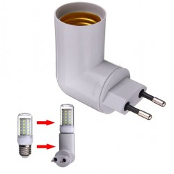 Spina E27 con Presa UE con Interruttore On/Off