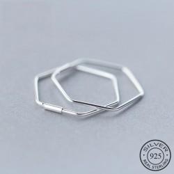 Pentagon earrings - geometric hyperbole - 925 sterling silver