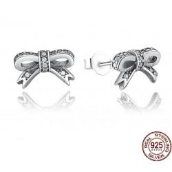 Crystal bowknot earrings - 925 sterling silver