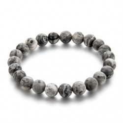 Natural stone Buddha bracelet unisex