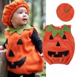 Pumpkin costume - set with sleeveless jumpsuit & hat