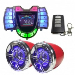 Motorcycle stereo speakers - radio - waterproof - microphone - Bluetooth - USB - LED