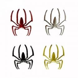 3D spider - car sticker - chrome
