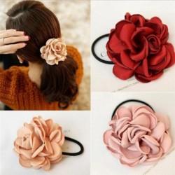 Elegant elastic hair band - with big rose