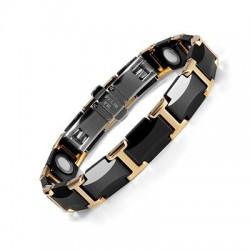 Magnetic bracelet - black ceramic tungsten steel - unisex - radiation protection