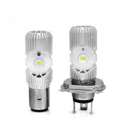 Motorcycle light bulb - LED CREE - H4 - BA20D - DC 9V~85V - 20W 1400LM - 6500K