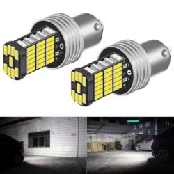 Car light bulb - waterproof - LED - DRL - P21W 1156 BA15S - 12V DC - 2 pieces