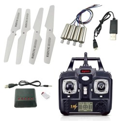 Syma X5 X5C X5C-1 RC Quadcopter - USB cable - propellers - charger - motor - remote control - spare parts