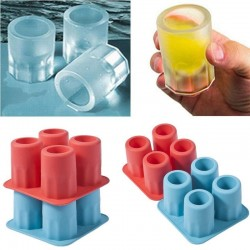 Ice cubes in the shape of a glass - silicone tray - mold
