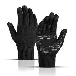 Warm winter gloves - touch screen function - non-slip