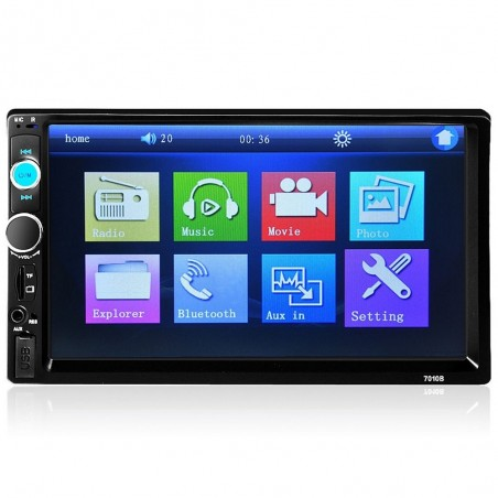 Bluetooth - DIN 2 car radio - 7'' Inch LCD touch screen - MP3 MP5 player - MirrorLink