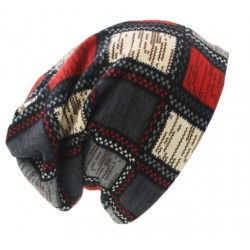 2 in 1 Plaid Design Unisex Winter Hat & Scarf