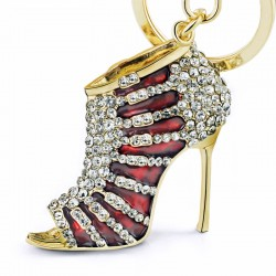 Crystal high heel shoe - keyring