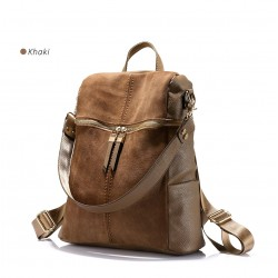 Vintage leather shoulder bag - backpack
