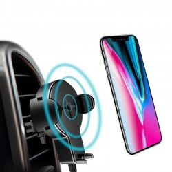 iPhone X S8 Original 360 Degree Rotation Qi Wireless Car Charger Phone Holder With LED Indicator