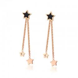 Gold Stars Long Earrings