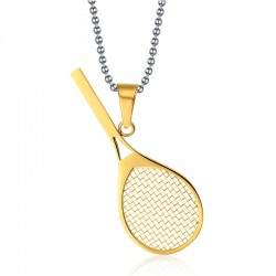 Sport Tennis Racket Pendant Necklace
