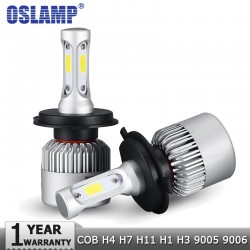 Oslamp COB 12v - 24v Car LED Headlight Hi-Lo Beam 72W 8000LM 6500K