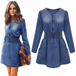 Denim Jeans Vintage Mini Dress
