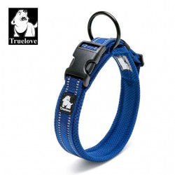 Dog pet adjustable reflective nylon collar
