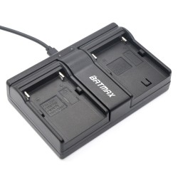 NP-F960 NP-F970 NP F930 Battery Dual Charger for SONY F950 F330 F550 F570 F750 F770 MC1500C HD1000C