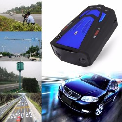 V7 16 LED display car anti radar laser detector speed voice alert warning