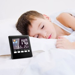 LCD digital alarm clock with backlight