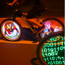 LED programmable bicycle wheel spoke light