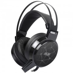 C13 LED gaming headset headphones with microphone & led