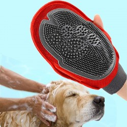 Cat dog fur grooming bath glove brush